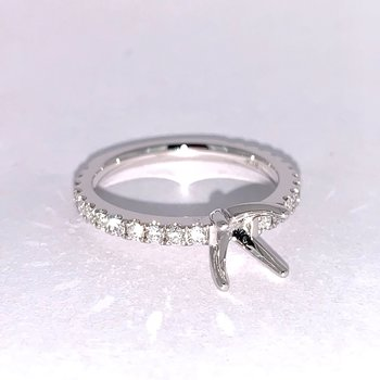 Classic Four Prong Diamond Ring Mounting