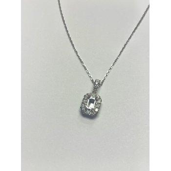 Diamond Halo Semi Mount Pendant