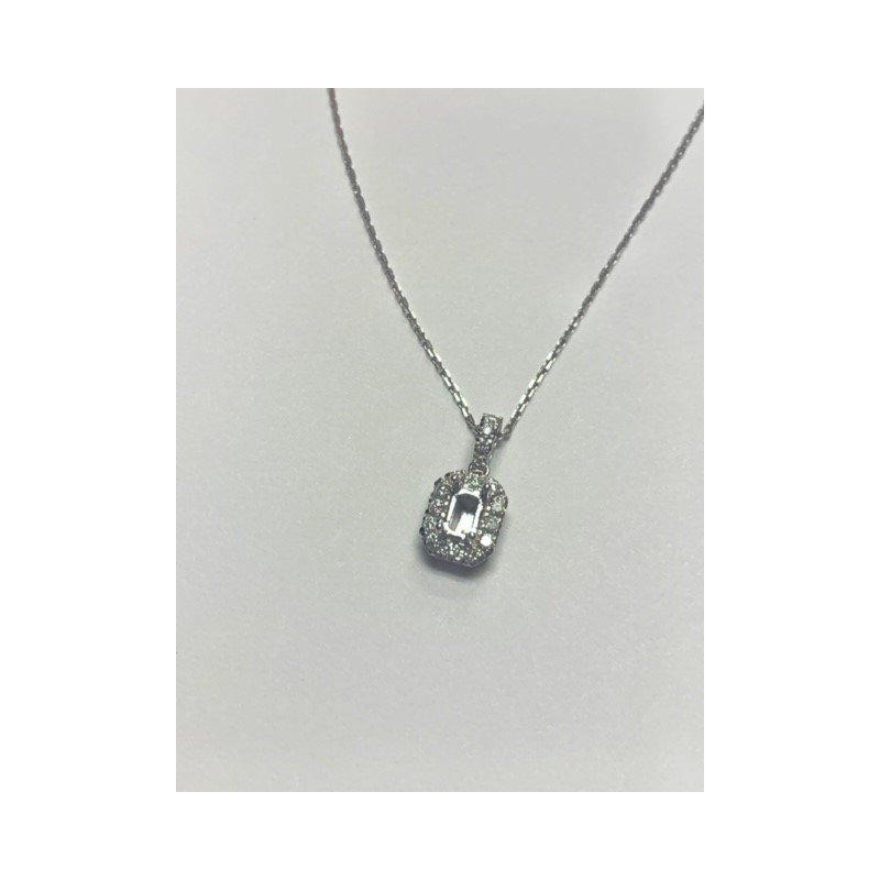 Decor Diamond Halo Semi Mount Pendant