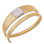 DA Gold Diamond Wrap Around Cuff Bracelet