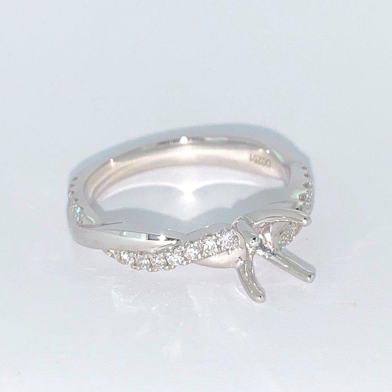 Decor Diamond Twist Ring Mounting