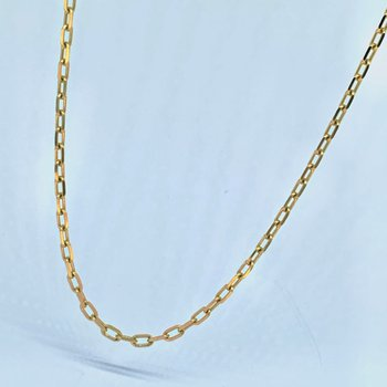 """24"""" Dainty Paperclip Gold Chain Necklace"""