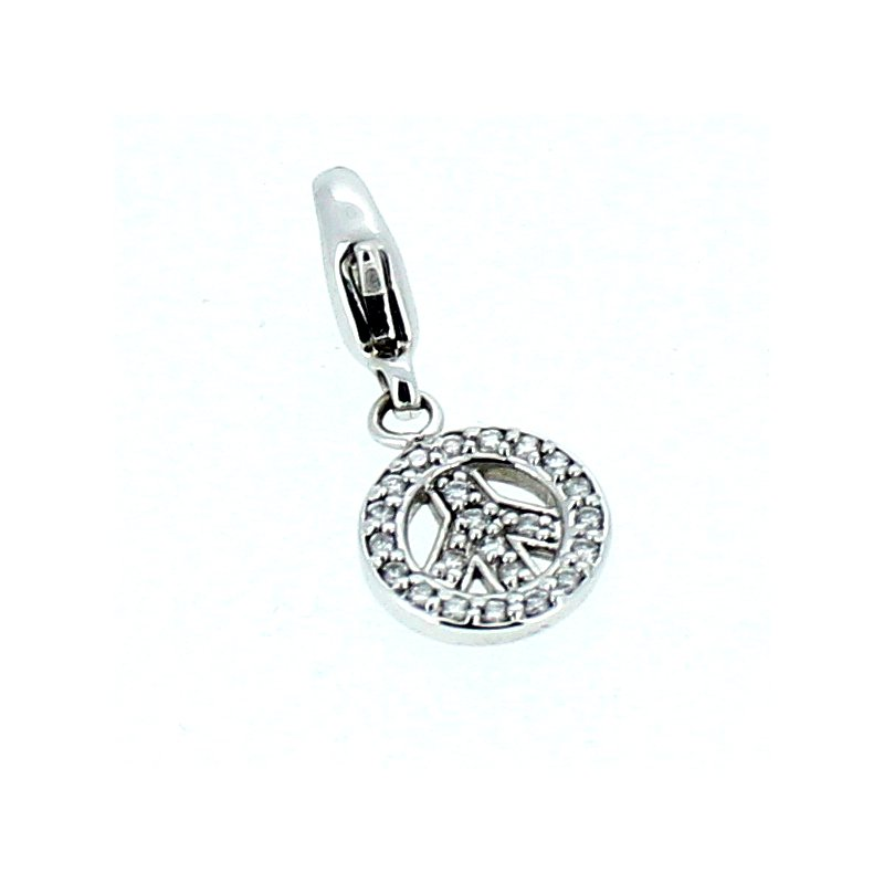Decor Diamond Peace Sign Charm