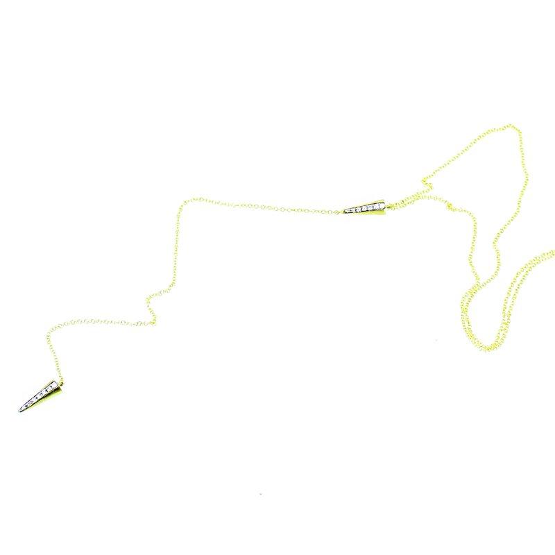 Meira T Diamond Spike Lariat Drop Necklace