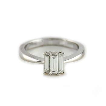 Three Stone Baguette Diamond Ring