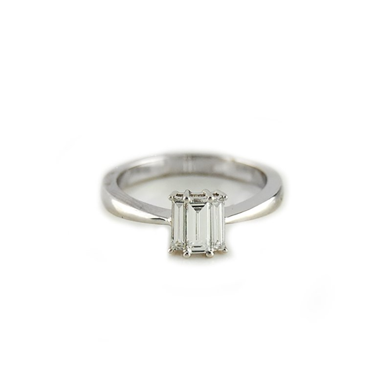 Decor Three Stone Baguette Diamond Ring