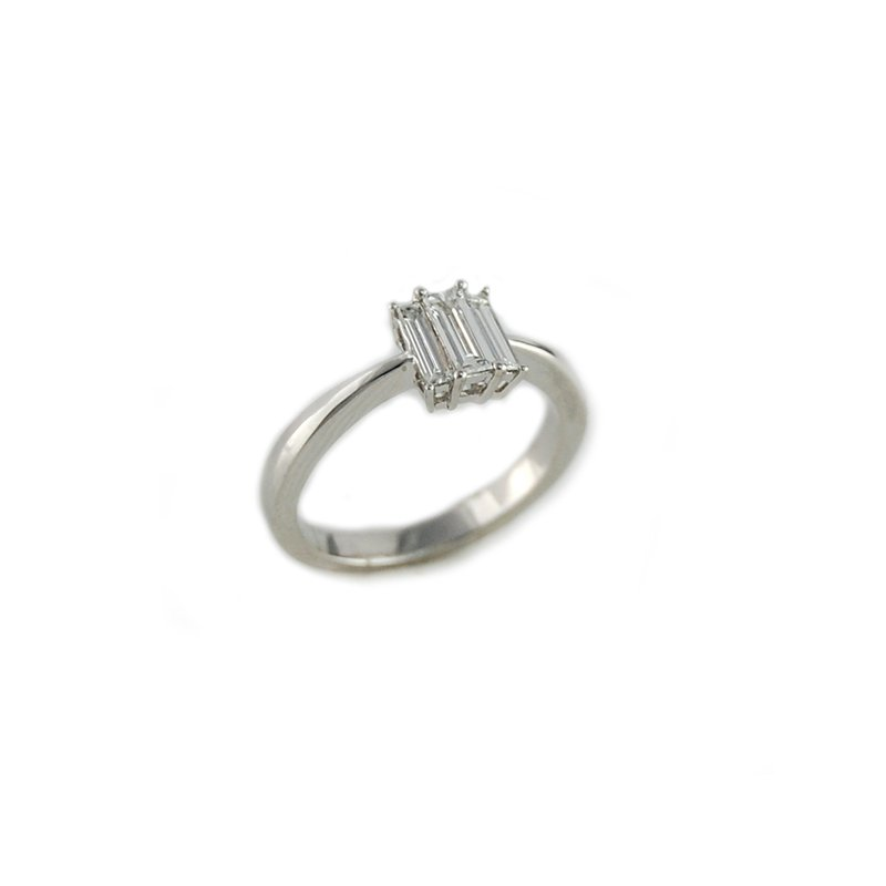 Decor Three Stone Baguette Diamond Ring