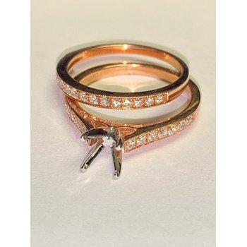 Rose Gold Diamond Ring Mounting Set