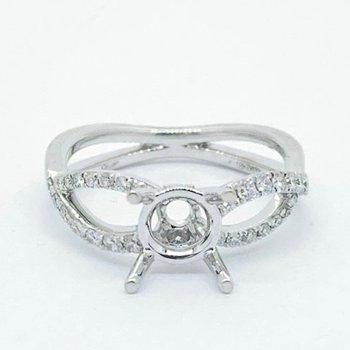 Open Woven Diamond Ring Mounting