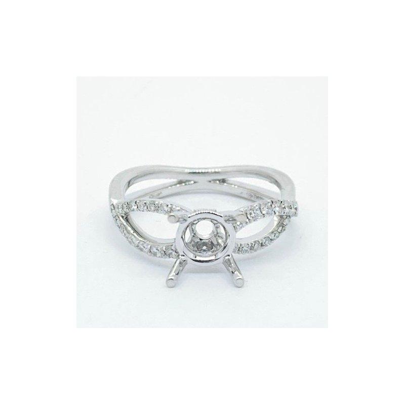 Decor Open Woven Diamond Ring Mounting