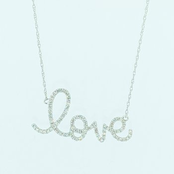 Diamond 'love' Necklace