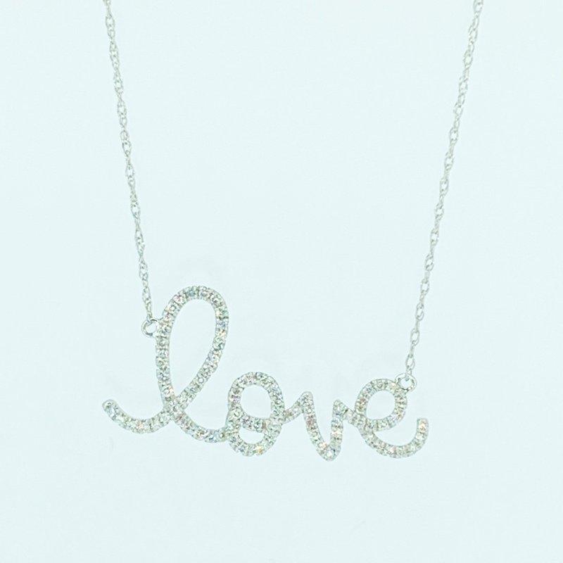 Decor Diamond 'love' Necklace