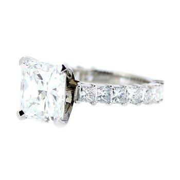 Radiant & Princess Cut Diamond Ring