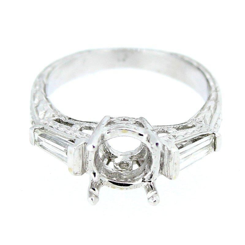 Decor Estate Baguette Diamond Ring Mounting