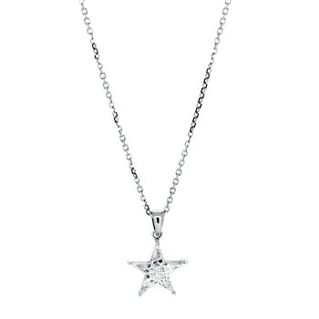 Kite Cut Diamond Cluster Star Pendant