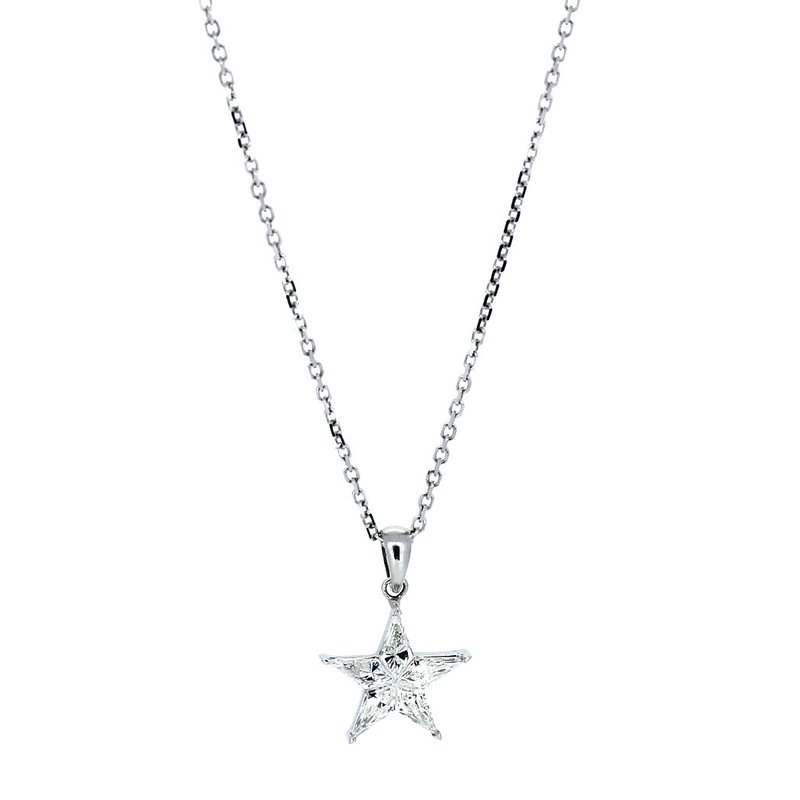 Decor Kite Cut Diamond Cluster Star Pendant