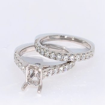 Diamond Ring Mounting & Band