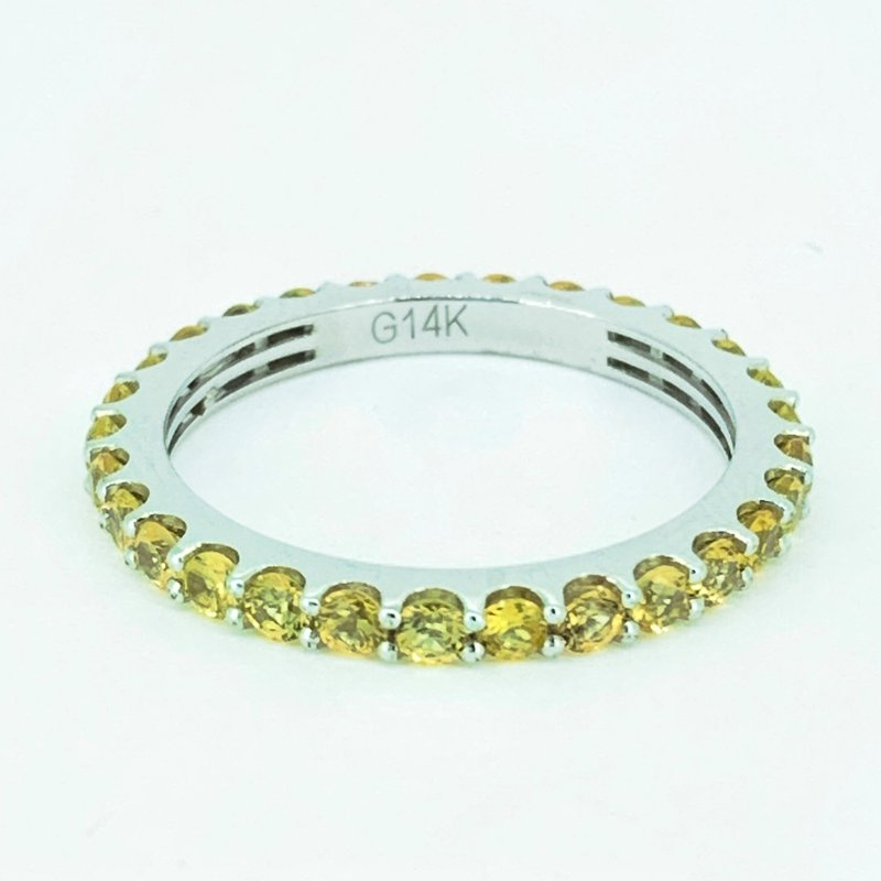 Decor Citrine Stackable Eternity Band