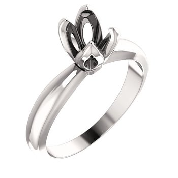 Tulip Basket Solitaire Engagement Ring Mounting