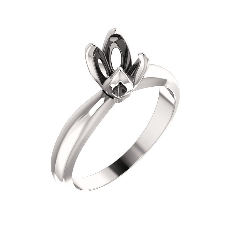 Decor Tulip Basket Solitaire Engagement Ring Mounting