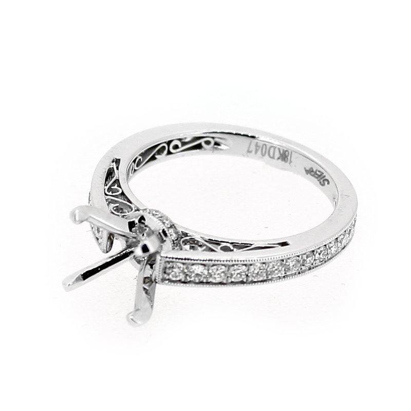 Decor Filigree Diamond Engagement Ring Mounting