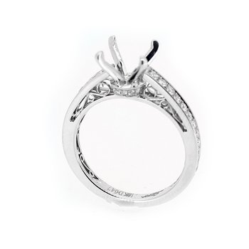 Filigree Diamond Engagement Ring Mounting