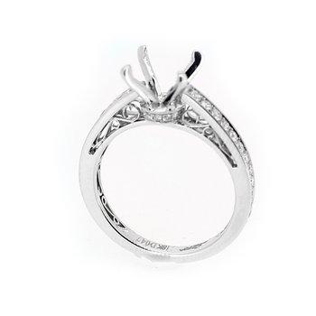 Filigree Diamond Engagement Ring Mounting