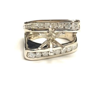 Modern Abstract Diamond Ring Mounting