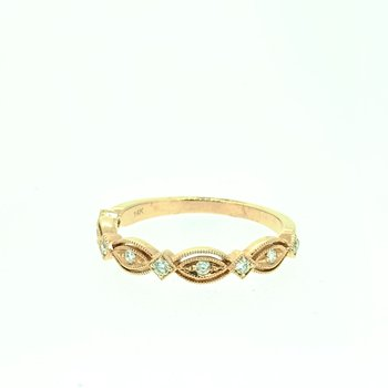 Vintage Inspired Rose Gold Diamond Band