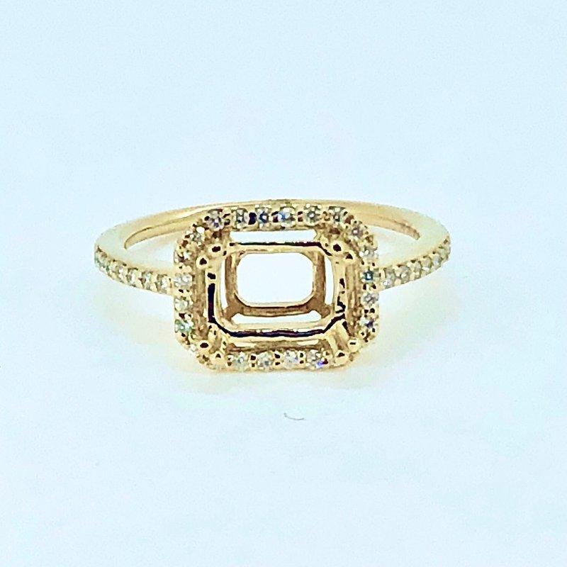 Decor Diamond Halo Ring Mounting