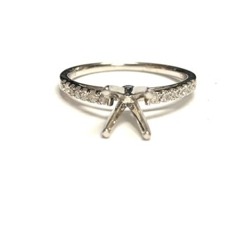 Cathedral Diamond Ring Mounting