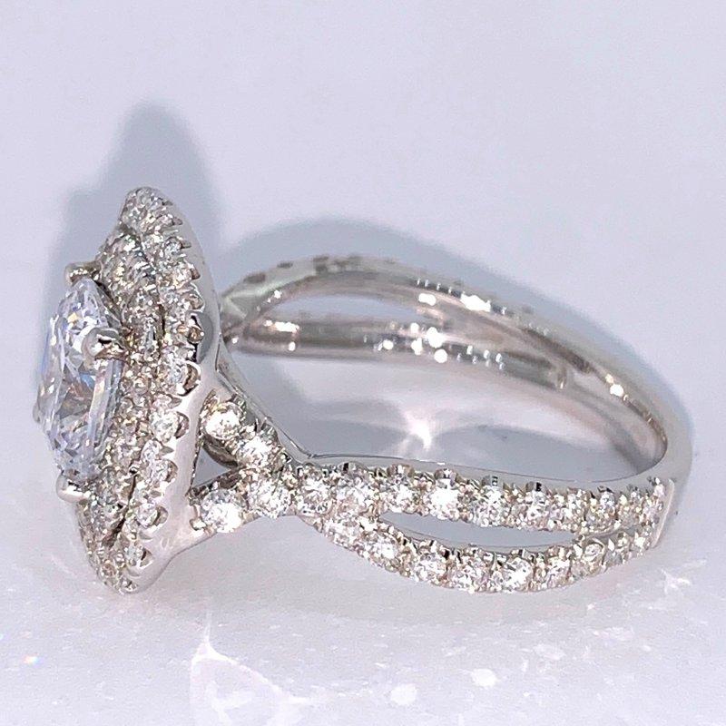 Decor Double Halo Diamond Ring Mounting