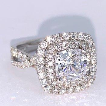 Double Halo Diamond Ring Mounting