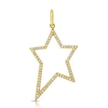 Diamond Open Star Pendant