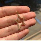 Sabrina Diamond Open Star Pendant