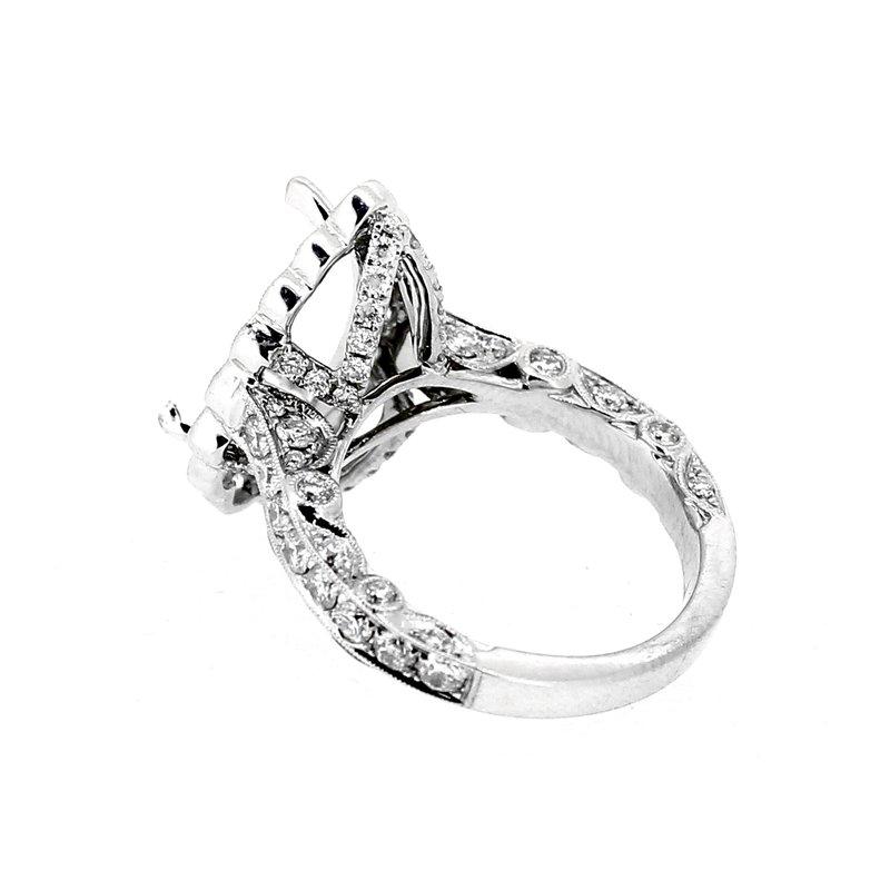 Decor Pear Halo Diamond Ring