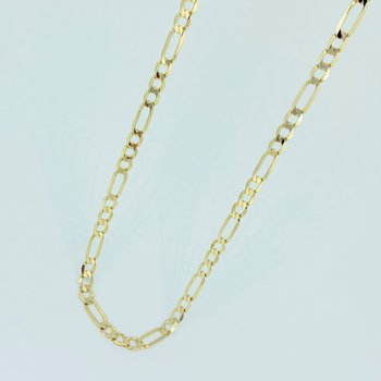 Gold Figaro Link Necklace