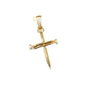 Diamond Nail Cross Pendant
