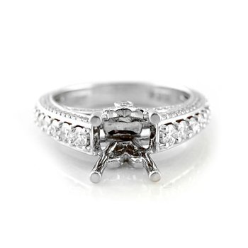 Ornate Diamond Ring Mounting