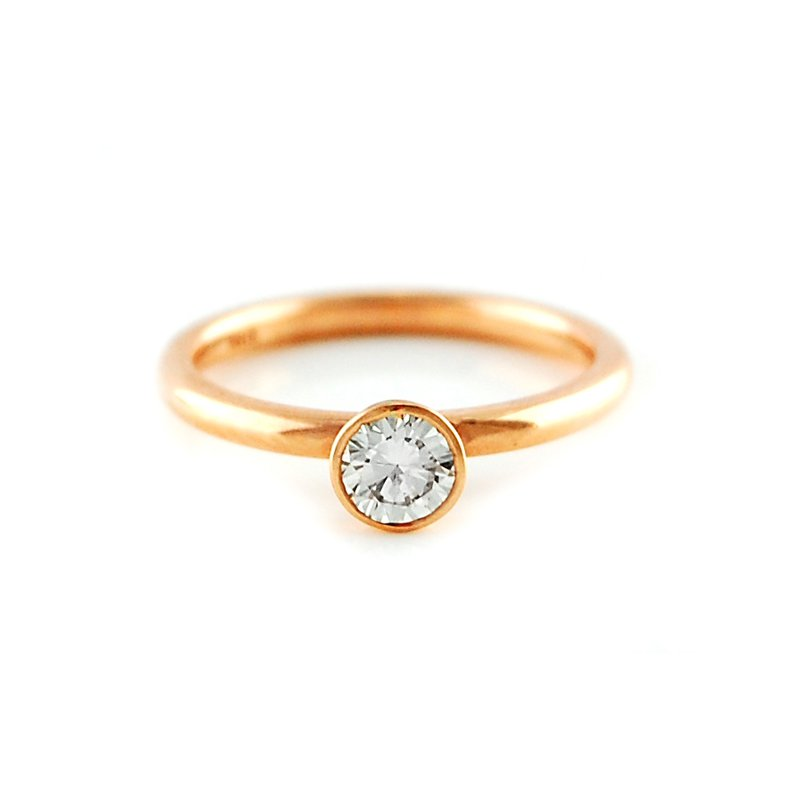 Decor Bezel Set Solitaire Diamond Ring