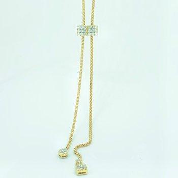 Long Diamond Bolo Necklace