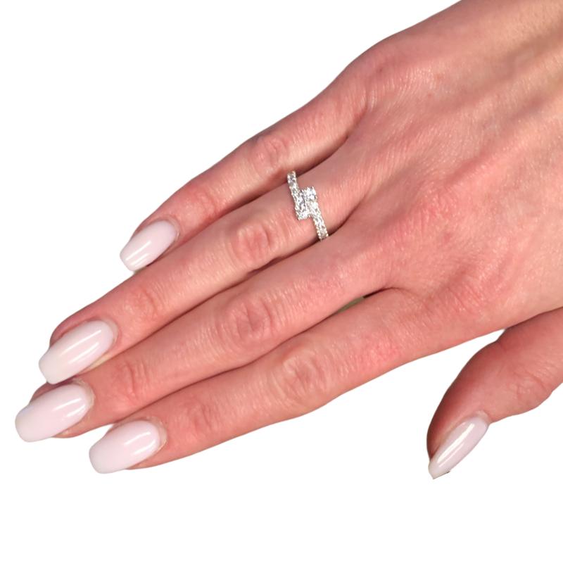 Decor Diamond Bypass Ring