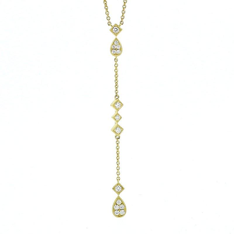 Decor Diamond Lariat Necklace