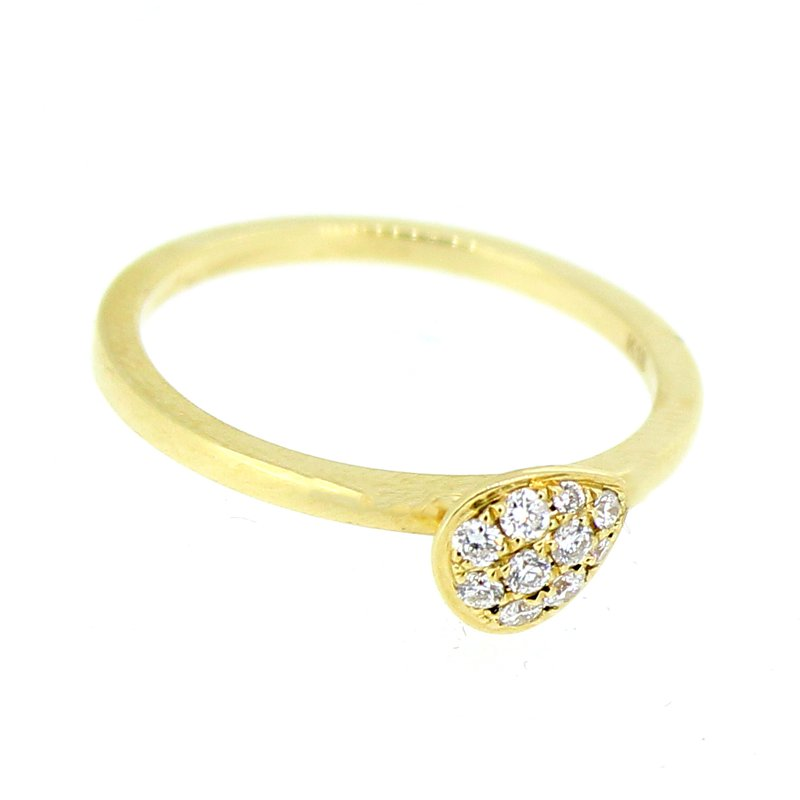 Decor Pave Pear Stackable Diamond Ring