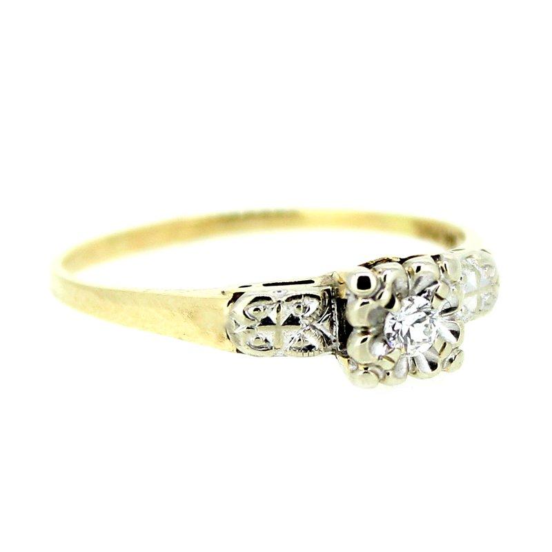 Decor Vintage Two Tone Diamond Ring