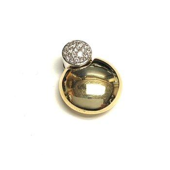 Puffed 2 Tone Diamond Pendant