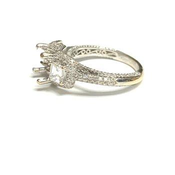 Asscher Cut Diamond Ring Mounting