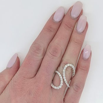 Open Freeform Diamond Ring