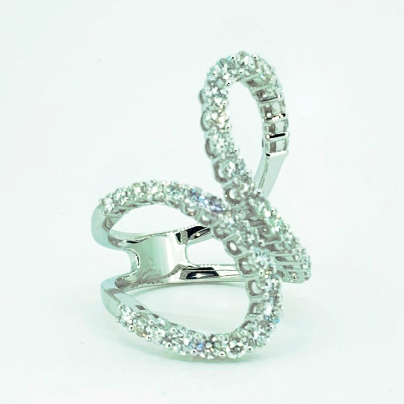 Decor Open Freeform Diamond Ring