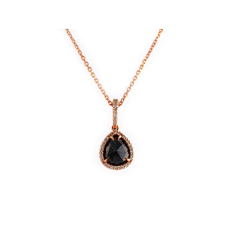 Decor Rose Gold Black Diamond Pendant